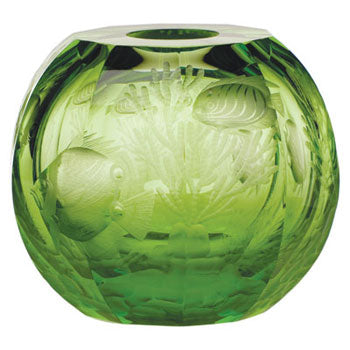 Moser The Globe Vase-Ocean Green