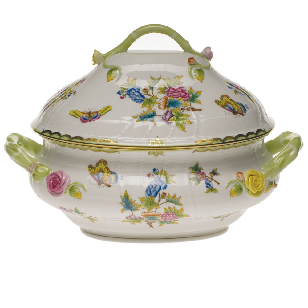 Herend Queen Victoria 4Qt. Tureen with Branch