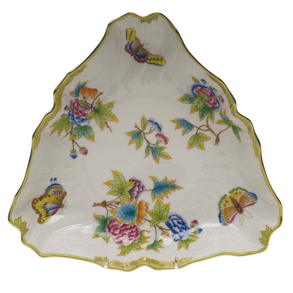 Herend Queen Victoria Triangle Dish