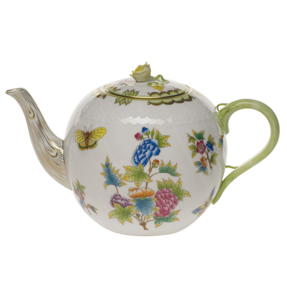Herend Queen Victoria 60oz. Teapot With Rose