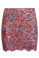 Skirt with lace covered with silicone