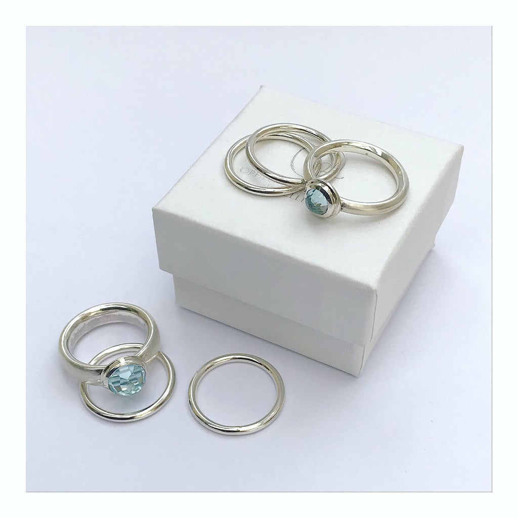 Topaz stacking rings