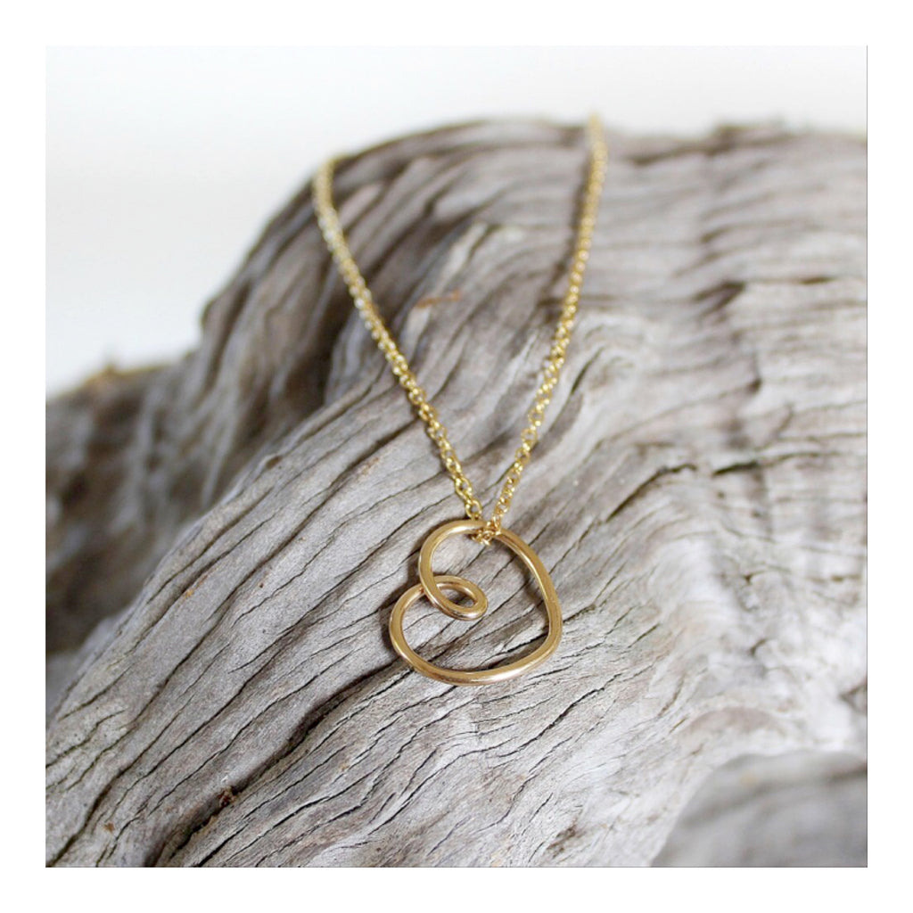 'Heart of gold' Entwining pendant - Large