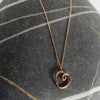 'beloved' entwining pendant gold - small