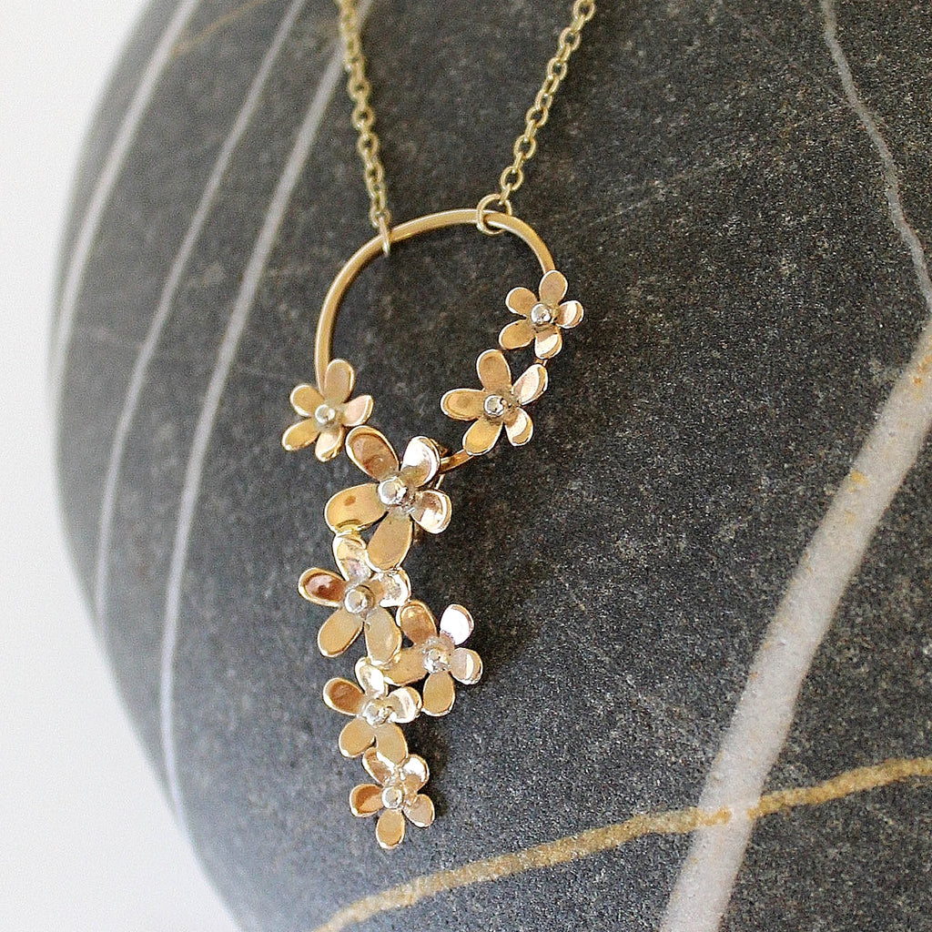 'Wildflower' golden daisy chain necklace