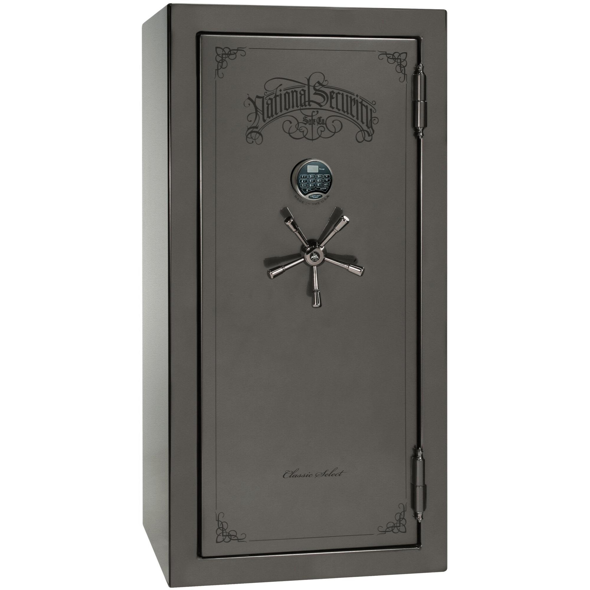 "Classic Select | 25 | Level 6 Security | 90 Minute Fire Protection | Gray | Black Electronic Lock | 60.5""(H) x 30""(W) x 28.5""(D)"