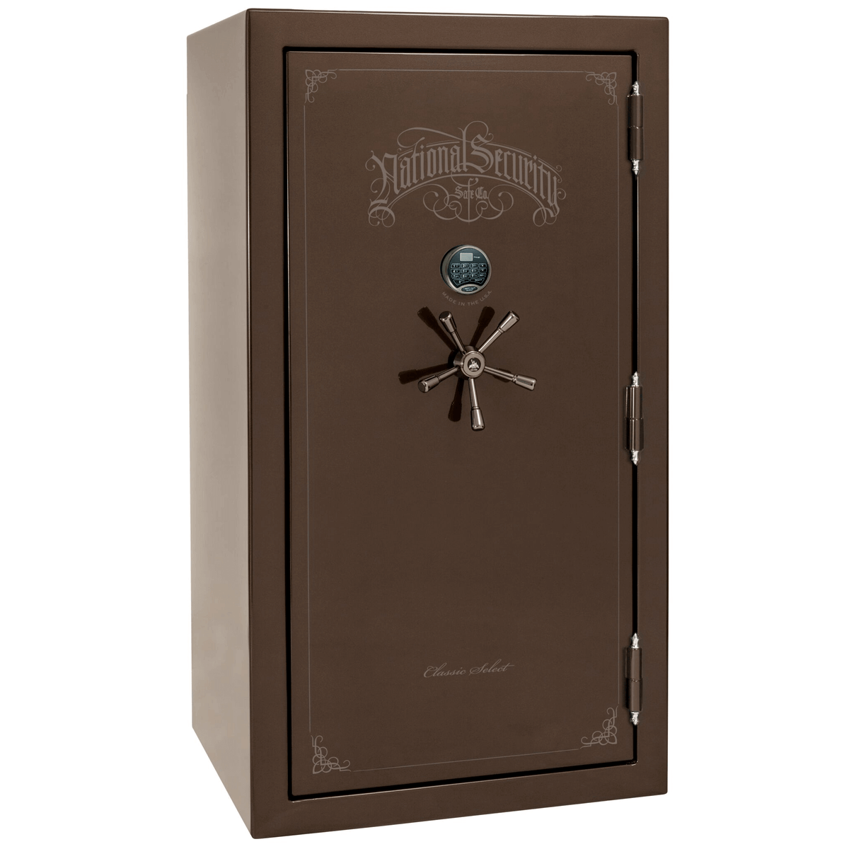 "Classic Select | 40 | Level 6 Security | 90 Minute Fire Protection | Bronze Gloss | Black Electronic Lock | 66.5""(H) x 36""(W) x 32""(D)"