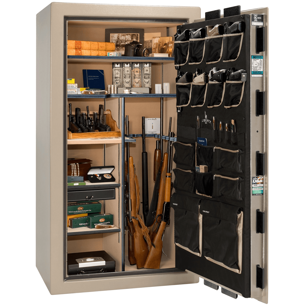 "Classic Select | 40 | Level 6 Security | 90 Minute Fire Protection | Champagne | Black Mechanical Lock | 66.5""(H) x 36""(W) x 32""(D)"