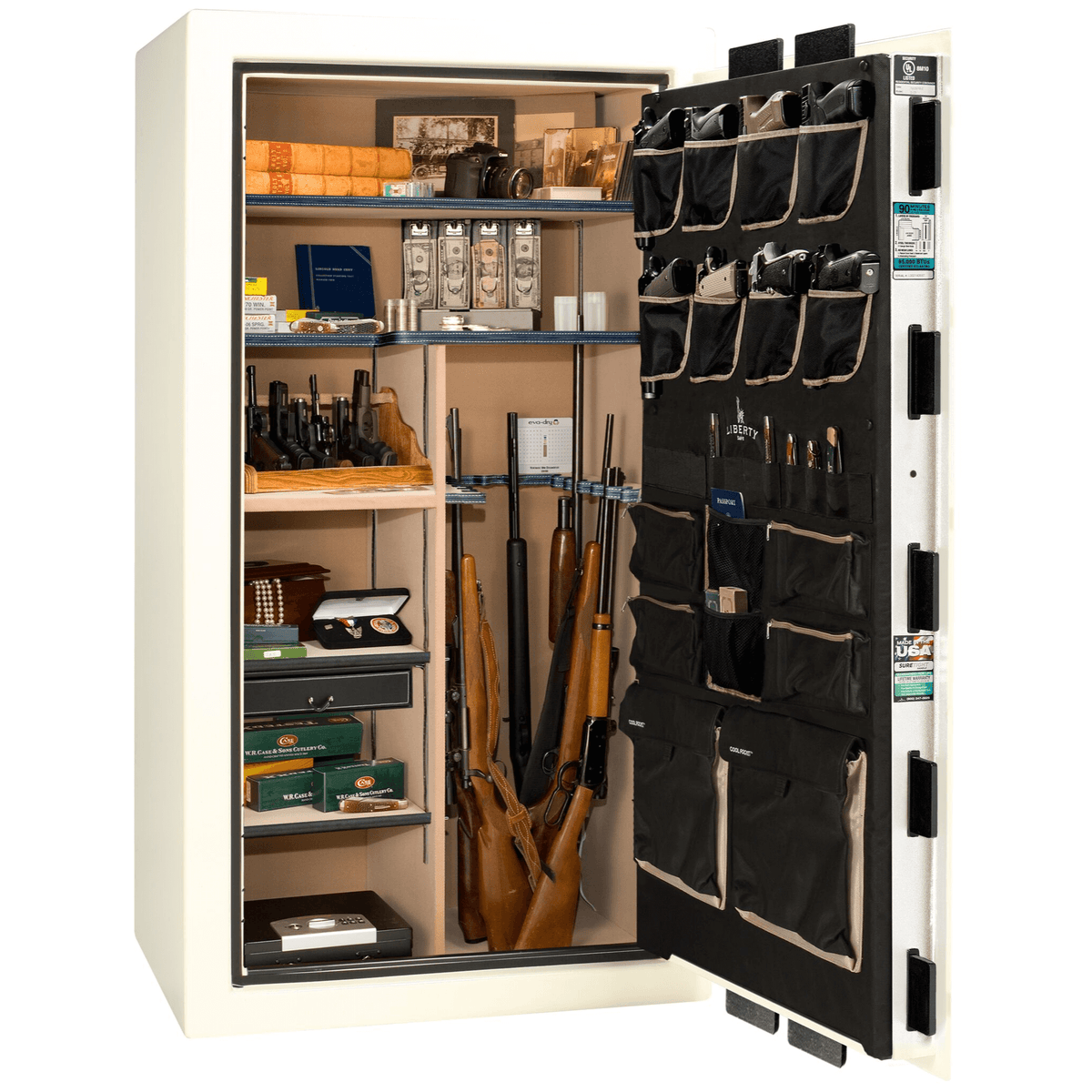 "Classic Select | 40 | Level 6 Security | 90 Minute Fire Protection | White | Black Electronic Lock | 66.5""(H) x 36""(W) x 32""(D)"
