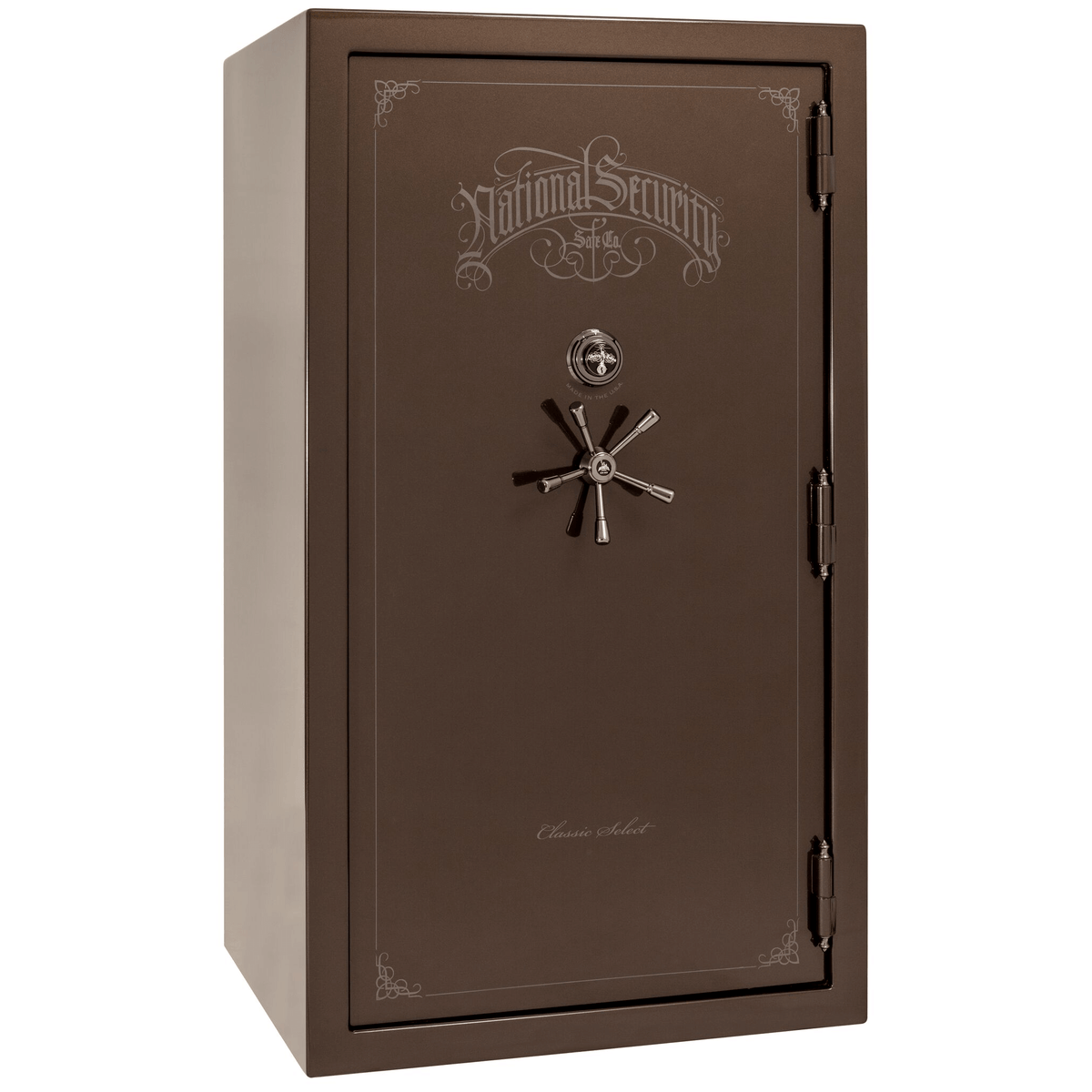 "Classic Select | 50 | Level 6 Security | 90 Minute Fire Protection | Bronze Gloss | Black Mechanical Lock | 72.5""(H) x 42""(W) x 32""(D)"