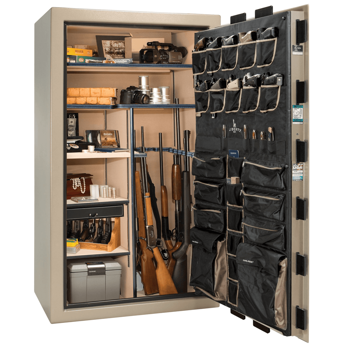 "Classic Select | 50 | Level 6 Security | 90 Minute Fire Protection | Champagne | Black Mechanical Lock | 72.5""(H) x 42""(W) x 32""(D)"