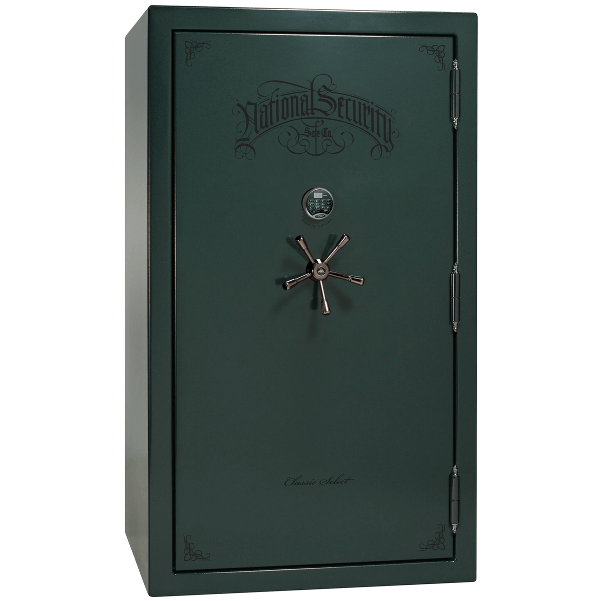 "Classic Select | 50 | Level 6 Security | 90 Minute Fire Protection | Green | Black Electronic Lock | 72.5""(H) x 42""(W) x 32""(D)"