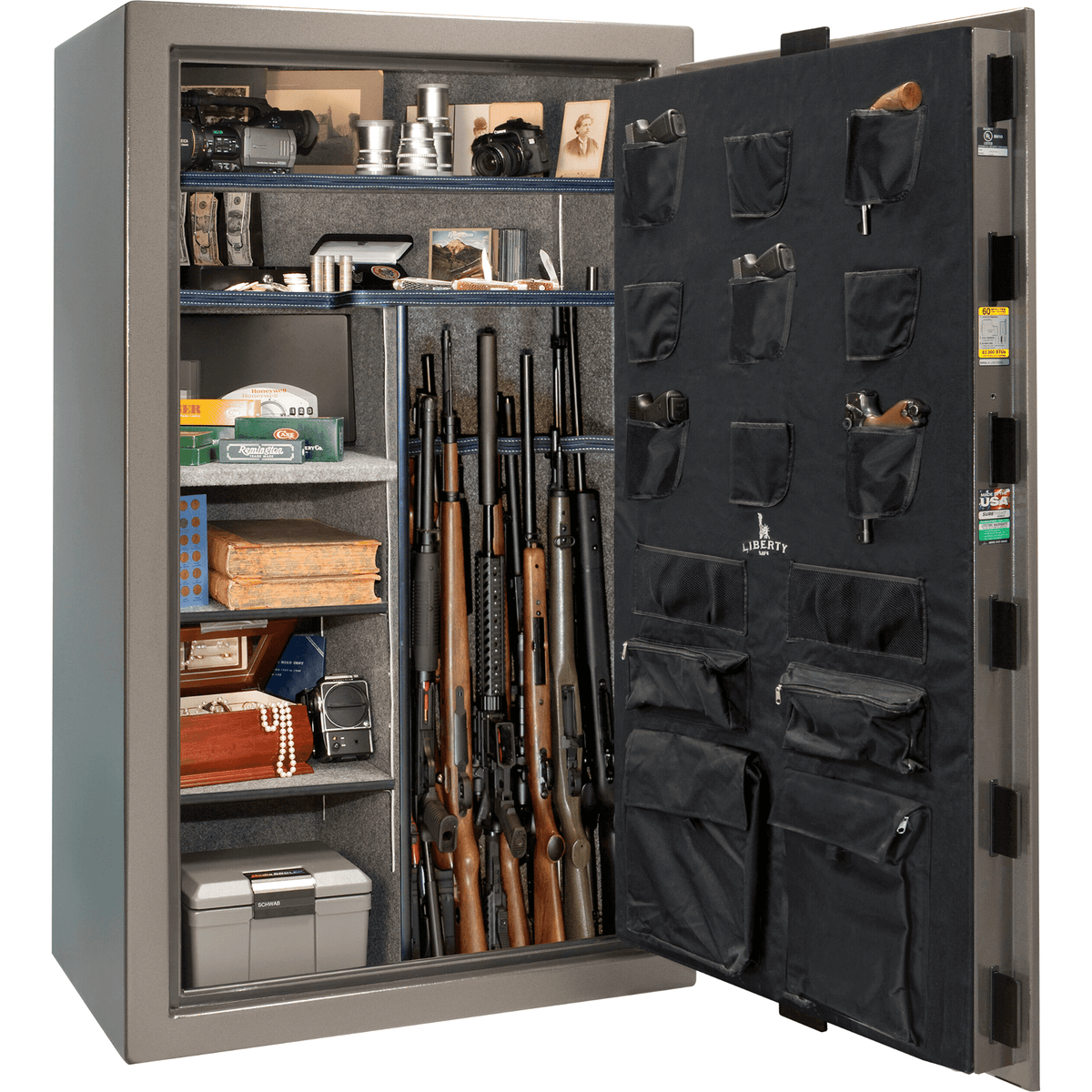 "Colonial | 50 | Level 3 Security | 60 Minute Fire Protection | Gray | Black Mechanical Lock | 72.5""(H) x 42""(W) x 30.5""(D)"