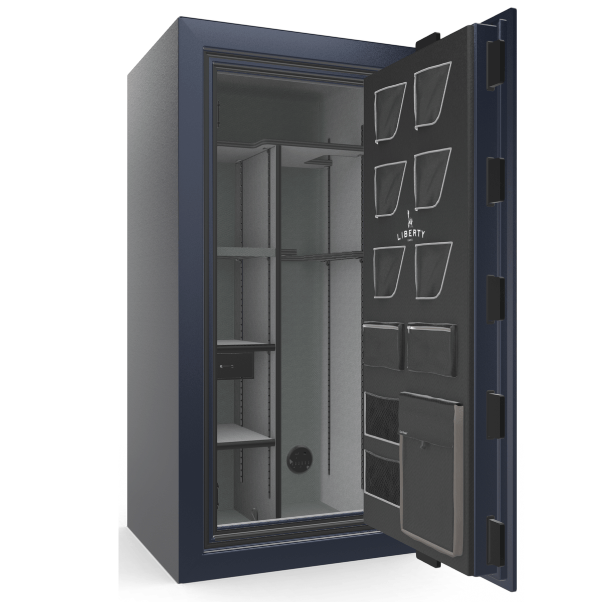 "Classic Plus | 25 | Level 7 Security | 110 Minute Fire Protection | Blue Gloss | Chrome Electronic Lock | 60.5""(H) x 30""(W) x 29""(D)"