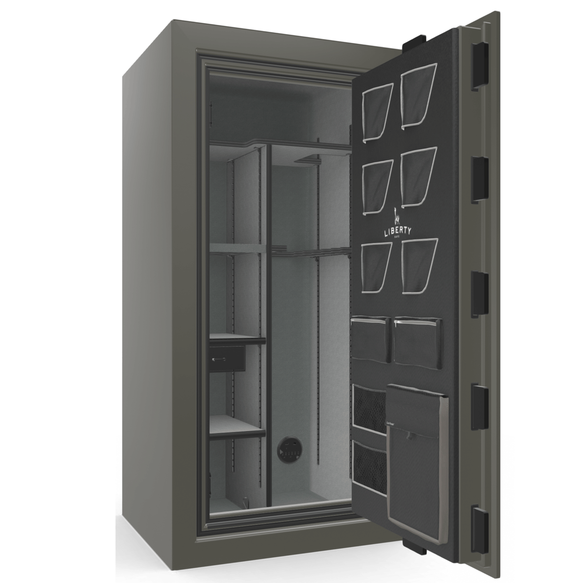 "Classic Plus | 25 | Level 7 Security | 110 Minute Fire Protection | Gray 2-Tone | Black Electronic Lock | 60.5""(H) x 30""(W) x 29""(D)"
