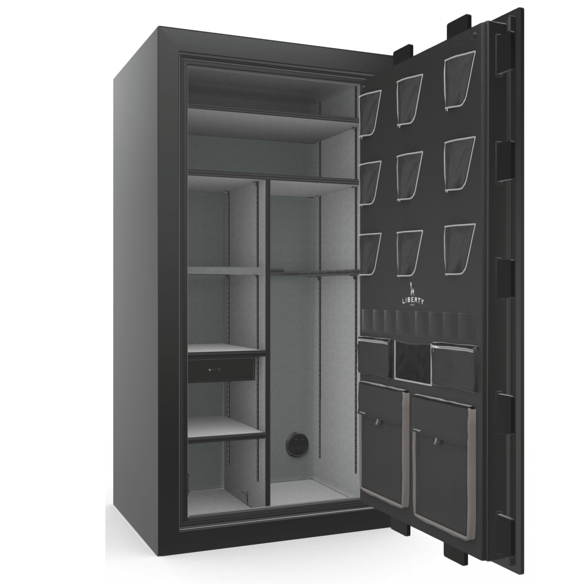 "Classic Plus | 40 | Level 7 Security | 110 Minute Fire Protection | Black Gloss | Chrome Mechanical Lock | 65.5""(H) x 36""(W) x 32""(D)"