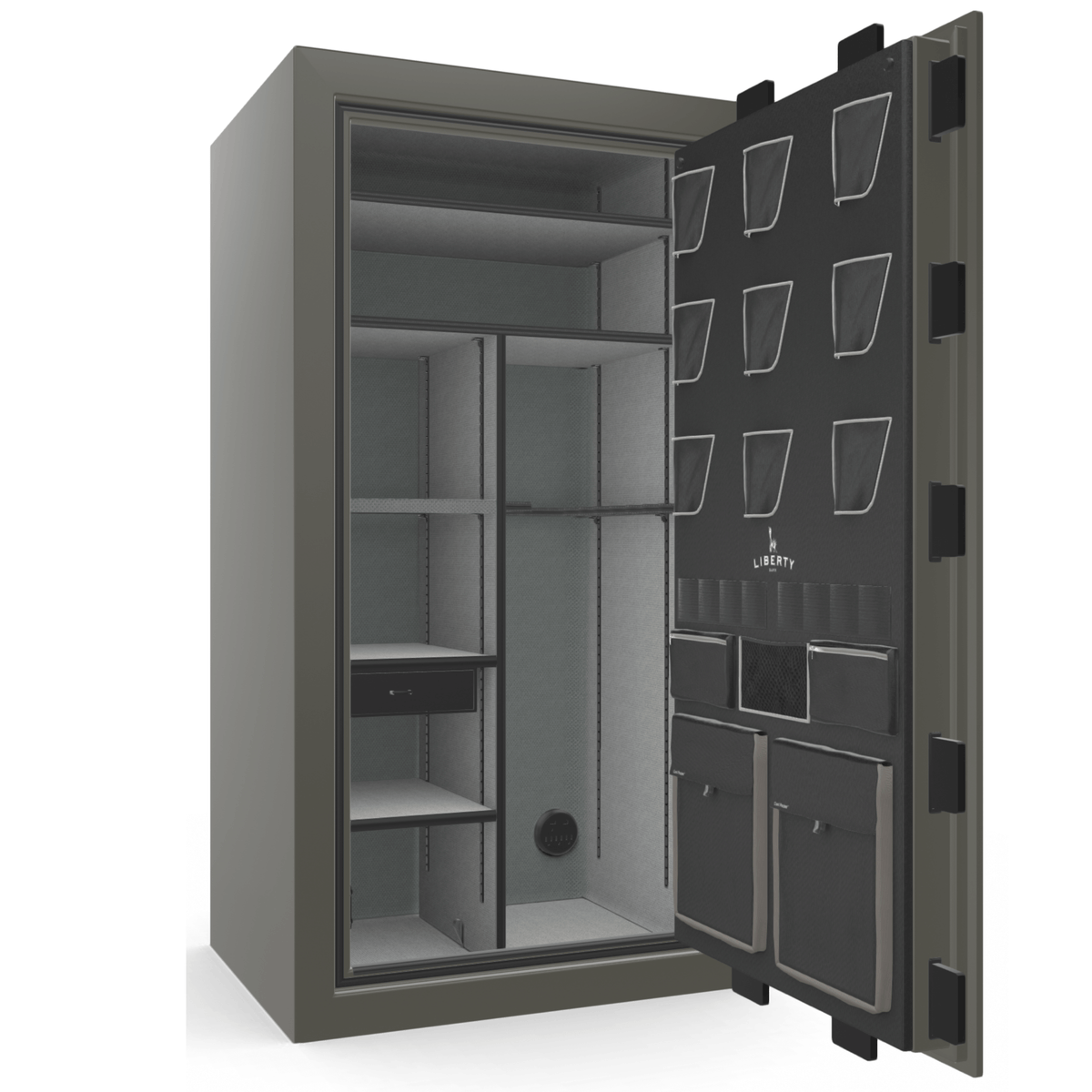 "Classic Plus | 40 | Level 7 Security | 110 Minute Fire Protection | Gray 2-Tone | Black Electronic Lock | 65.5""(H) x 36""(W) x 32""(D)"