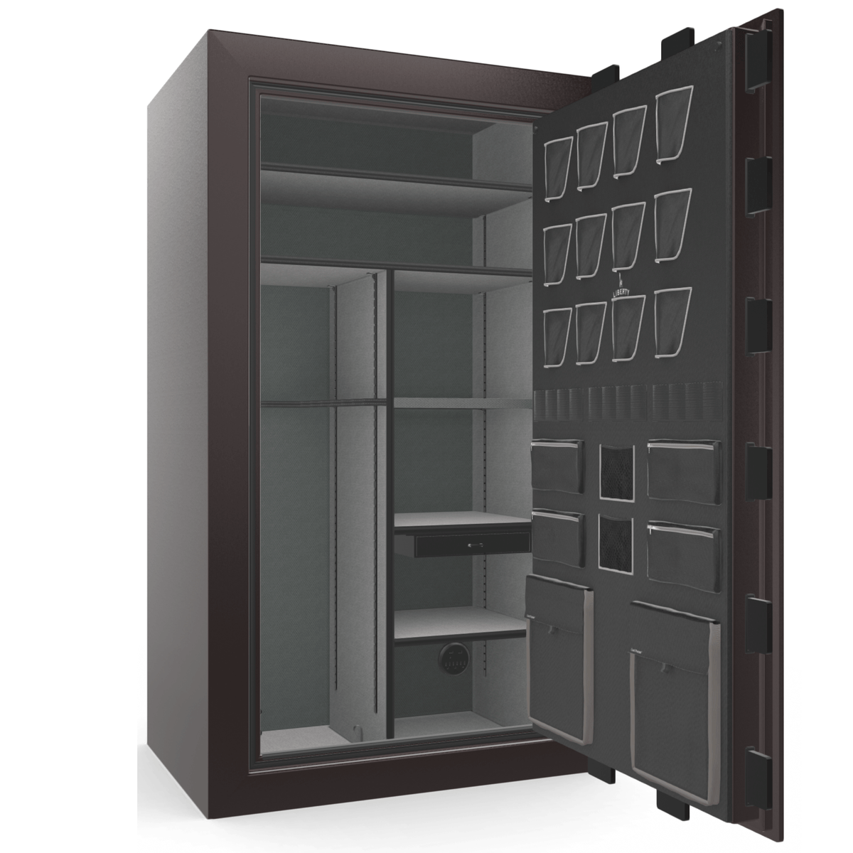 "Classic Plus | 50 | Level 7 Security | 110 Minute Fire Protection | Black Cherry Gloss | Black Electronic Lock | 72.5""(H) x 42""(W) x 32""(D)"
