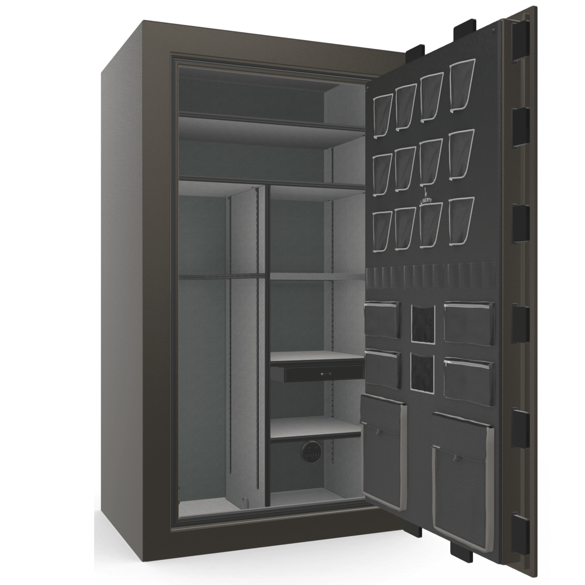 "Classic Plus | 50 | Level 7 Security | 110 Minute Fire Protection | Gray | Black Electronic Lock | 72.5""(H) x 42""(W) x 32""(D)"