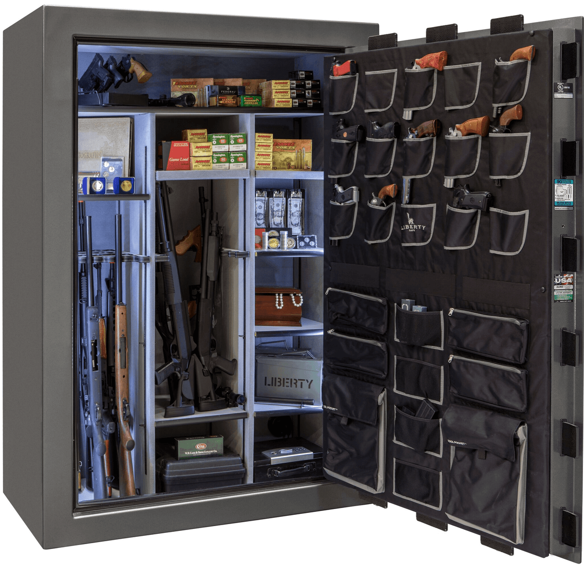 "Classic Select Extreme | 60 | Level 6 Security | 90 Minute Fire Protection | Gray | Black Electronic Lock | 72.5""(H) x 50""(W) x 32""(D)"