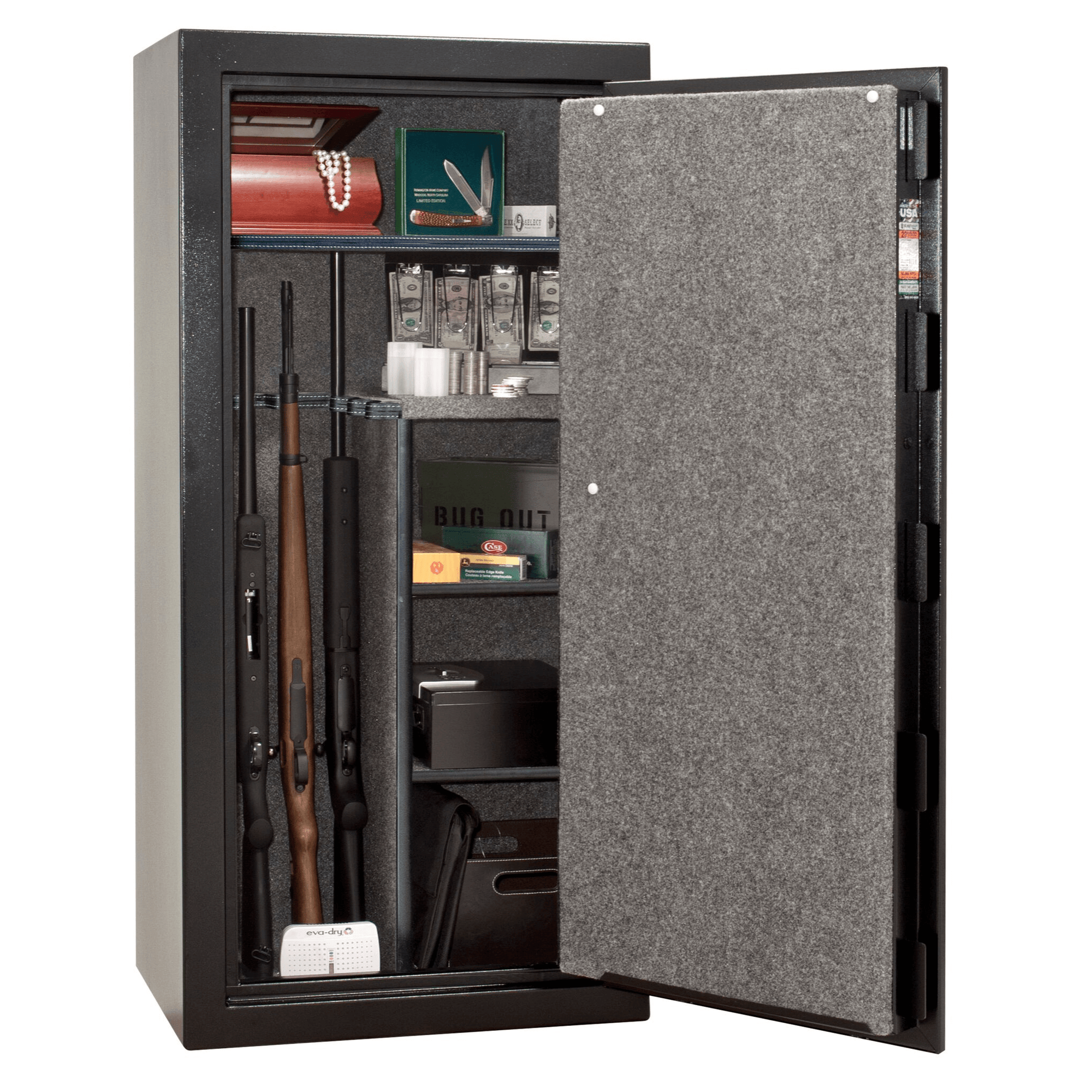 "Centurion | 24 | Level 1 Security | 30 Minute Fire Protection | Black | Black Mechanical Lock | 59.5""(H) x 28.25""(W) x 22""(D)"
