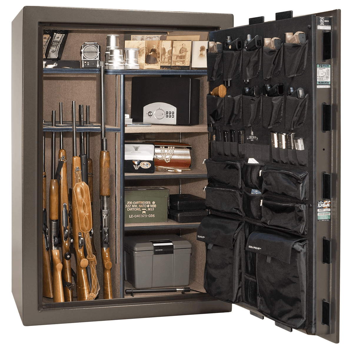 "Fatboy | 64 | Level 4 Security | 75 Minute Fire Protection | Bronze | Black Mechanical Lock | 60.5""(H) x 42""(W) x 32""(D)"