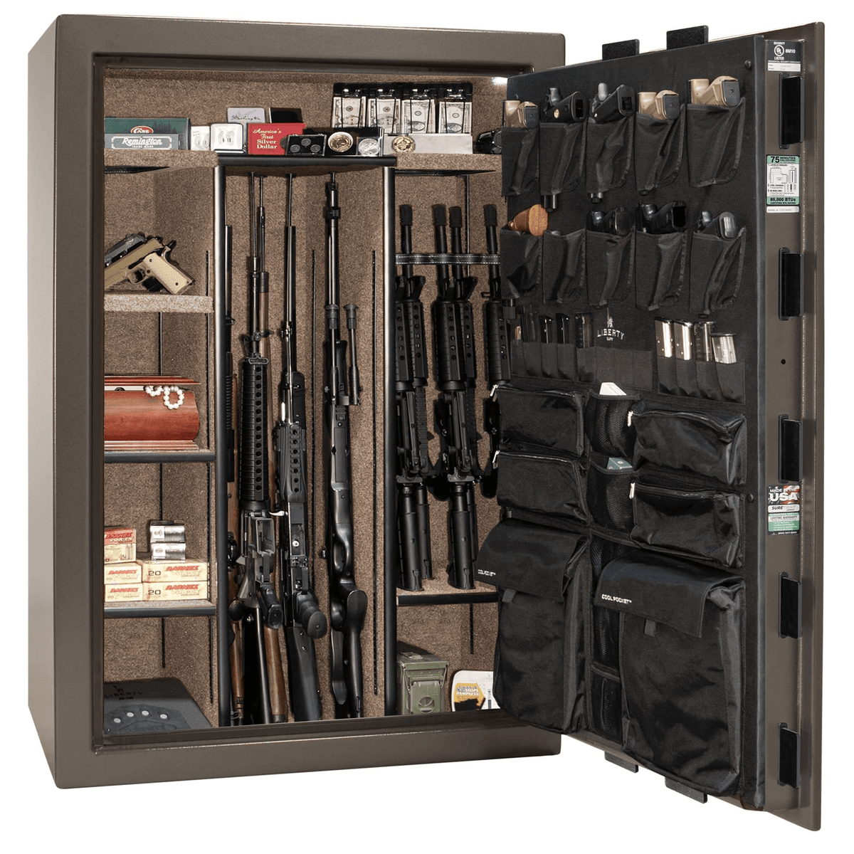 "Fatboy Extreme | 64 | Level 4 Security | 75 Minute Fire Protection | Bronze | Black Mechanical Lock | 60.5""(H) x 42""(W) x 32""(D)"