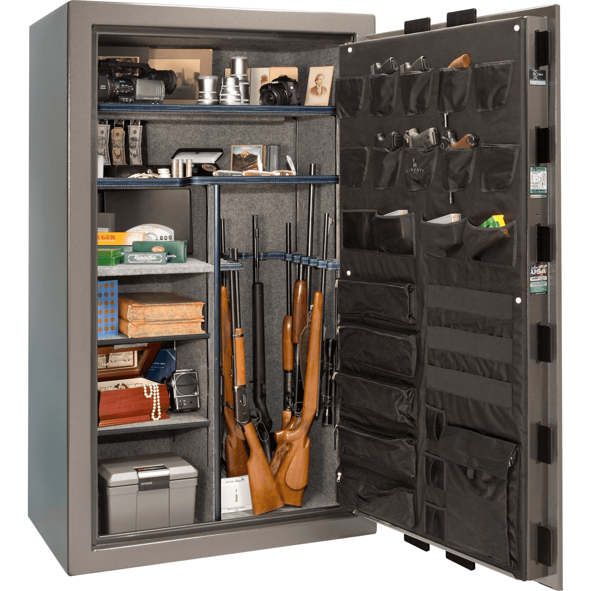 "Franklin | 50 | Level 4 Security | 75 Minute Fire Protection | Gray | Black Electronic Lock | 72.5""(H) x 42""(W) x 32""(D)"