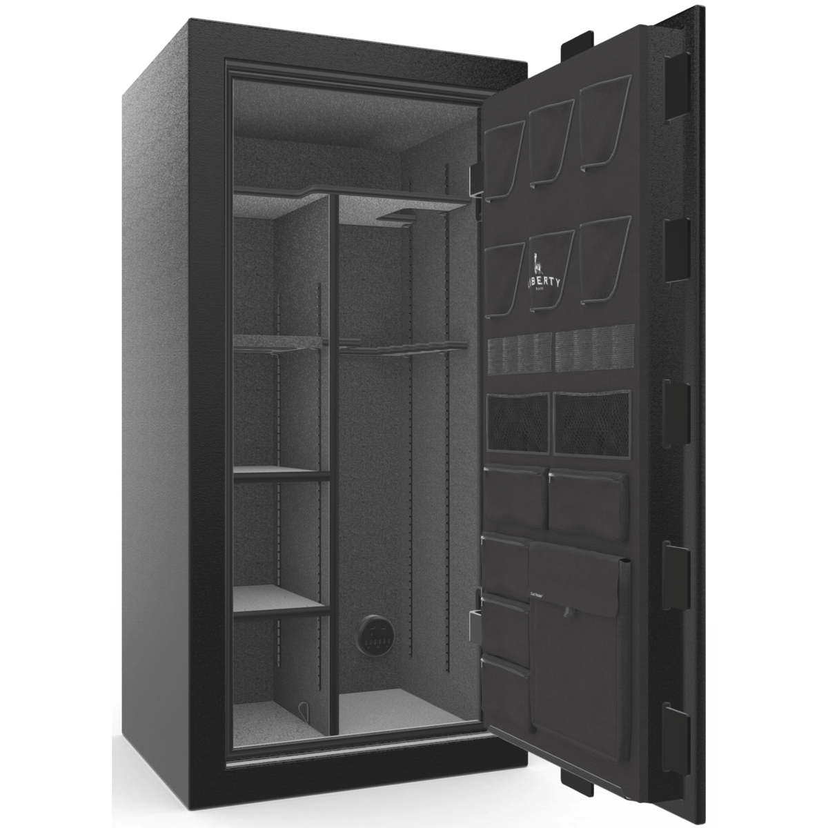 "Franklin | 25 | Level 4 Security | 75 Minute Fire Protection | Black | Chrome Electronic Lock | 60.5""(H) x 30""(W) x 28.5""(D)"