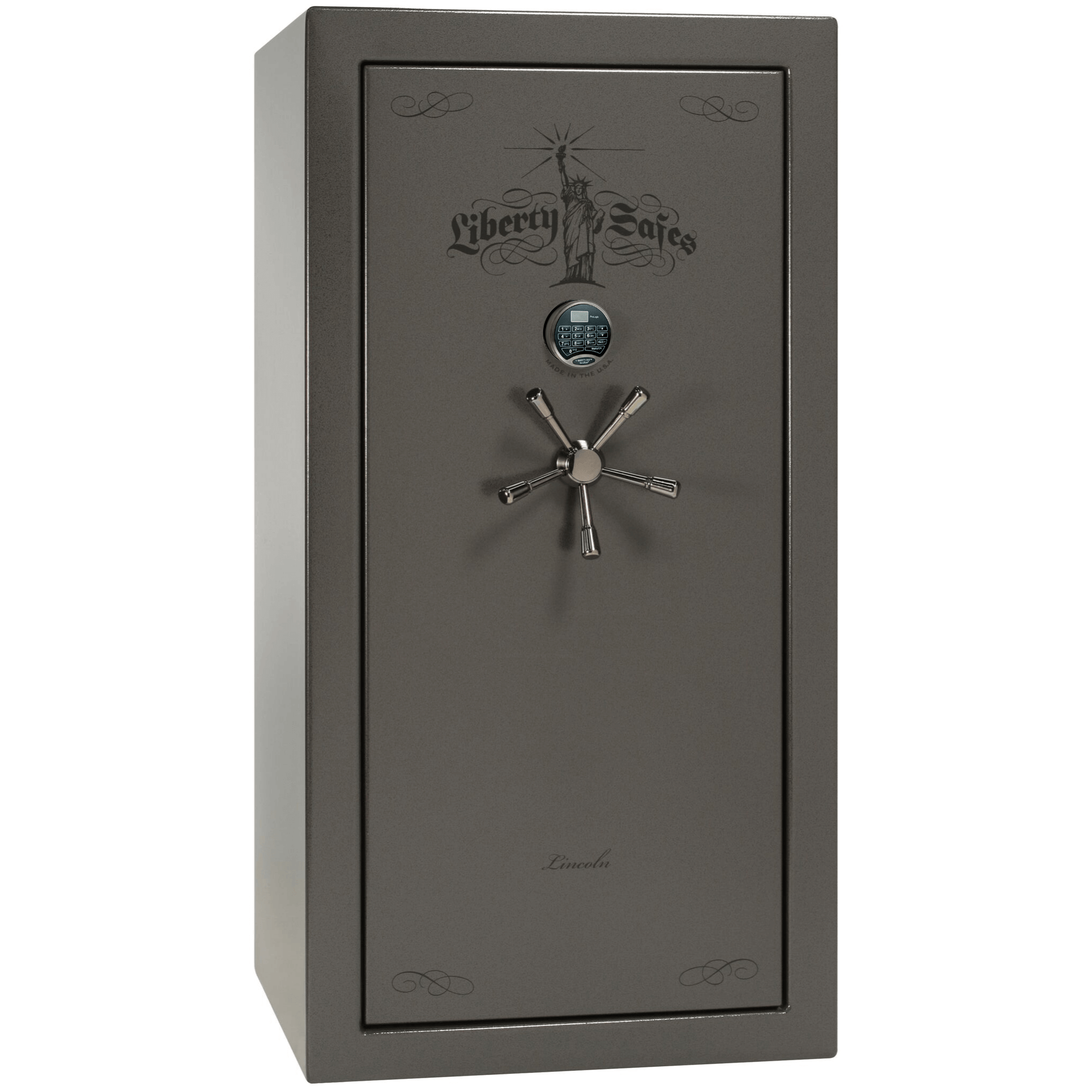 "Lincoln | 25 | Level 5 Security | 90 Minute Fire Protection | Gray | Black Electronic Lock | 60.5""(H) x 30""(W) x 28.5""(D)"