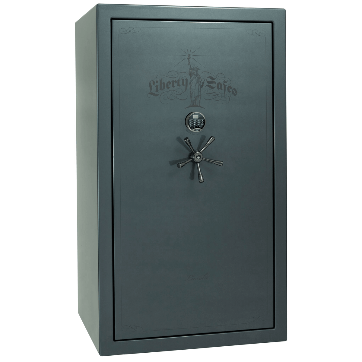 "Lincoln | 50 | Level 5 Security | 90 Minute Fire Protection | Forest Mist Gloss | Black Electronic Lock | 72.5""(H) x 42""(W) x 32""(D)"