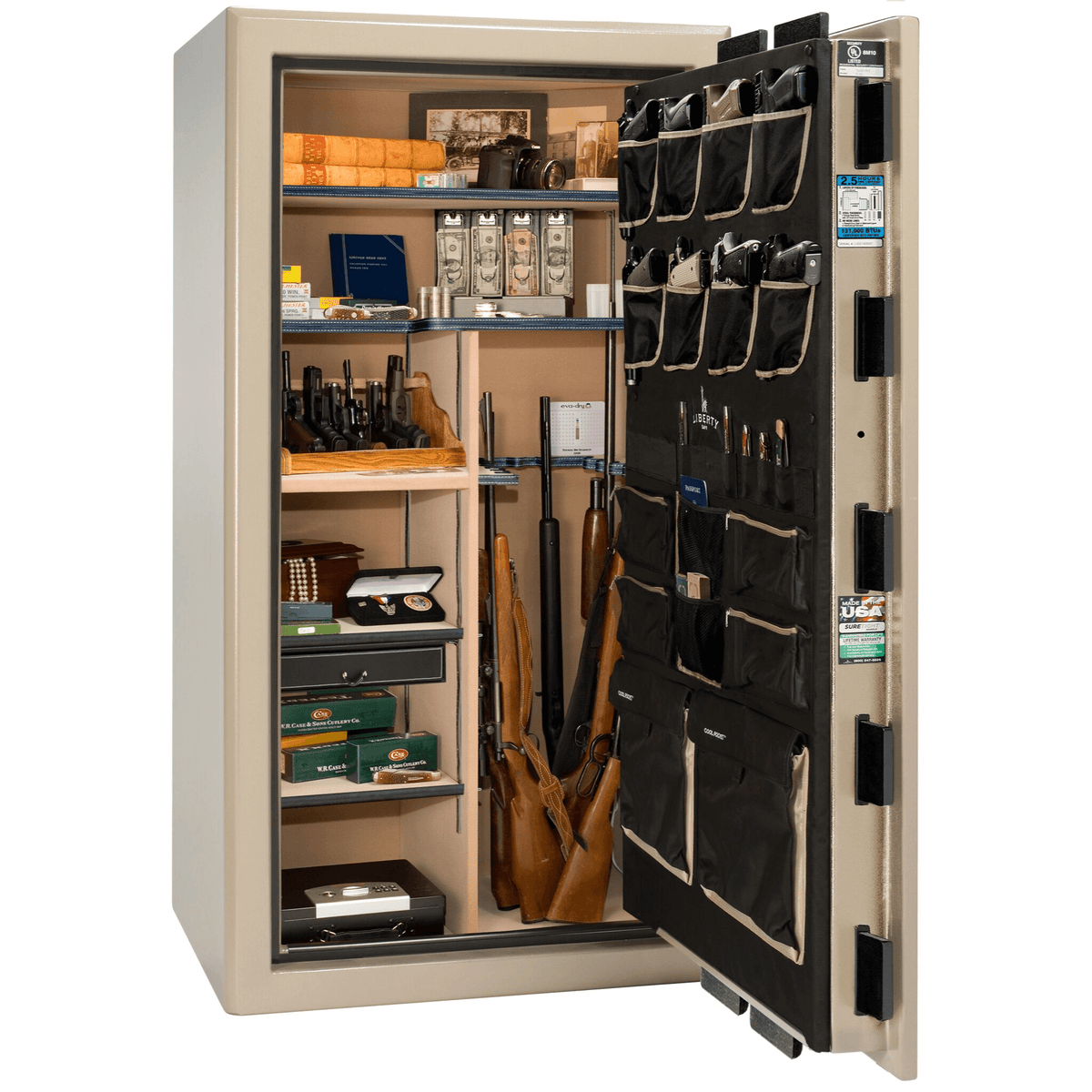 "Presidential | 40 | Level 8 Security | 150 Minute Fire Protection | Champagne | Black Electronic Lock | 65.5""(H) x 36""(W) x 32""(D)"
