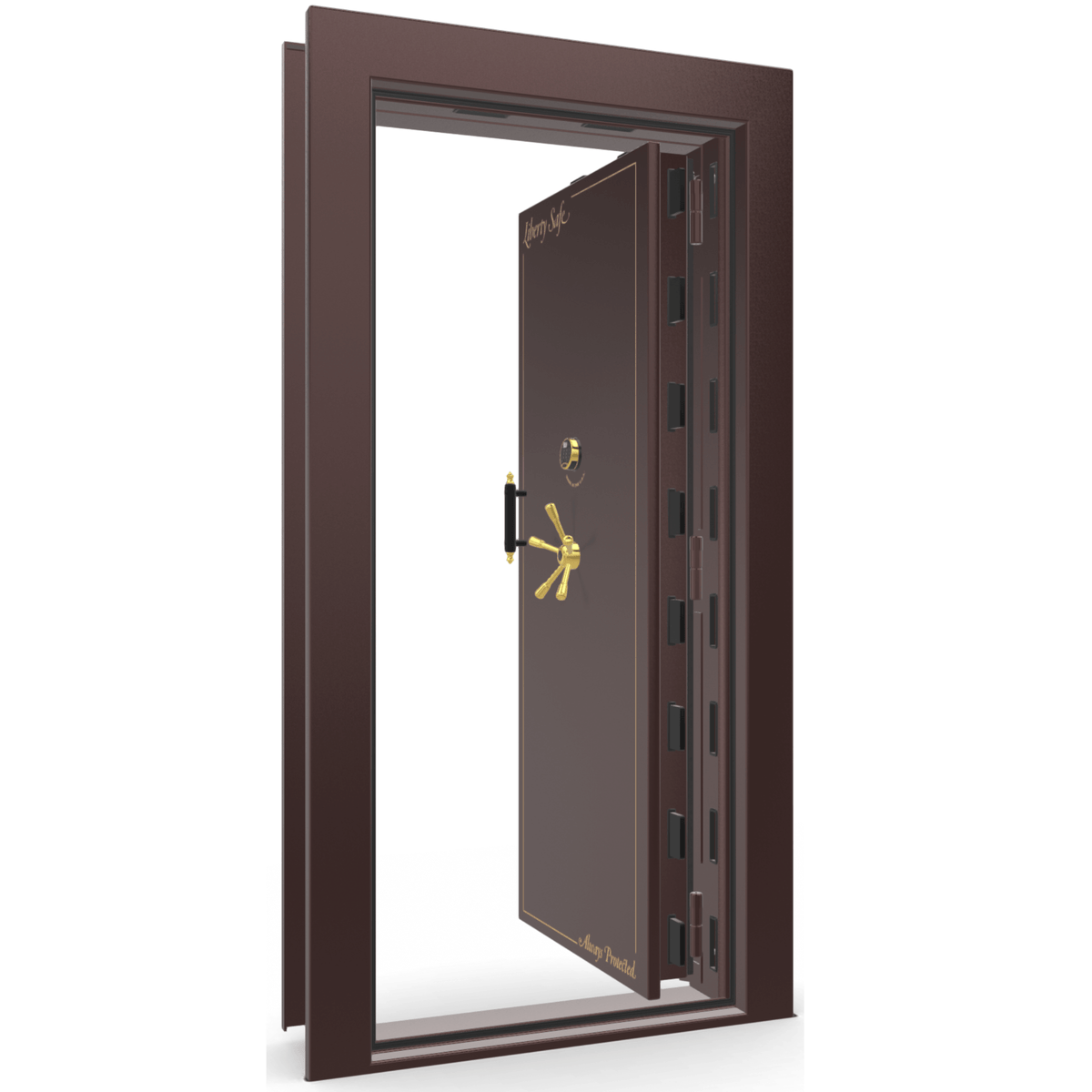 Vault Door Series | In-Swing | Right Hinge | Blue Gloss | Electronic