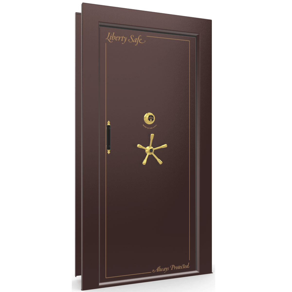 Vault Door Series | In-Swing | Left Hinge | Burgundy Marble | Mechanical