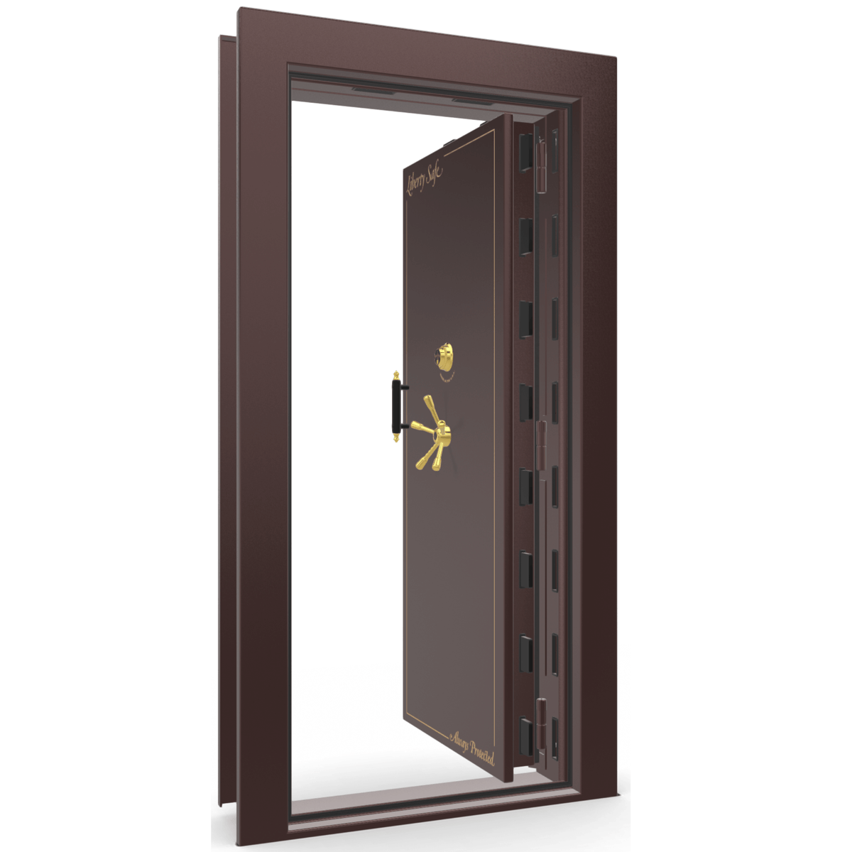 Vault Door Series | In-Swing | Left Hinge | Burgundy Marble | Electronic