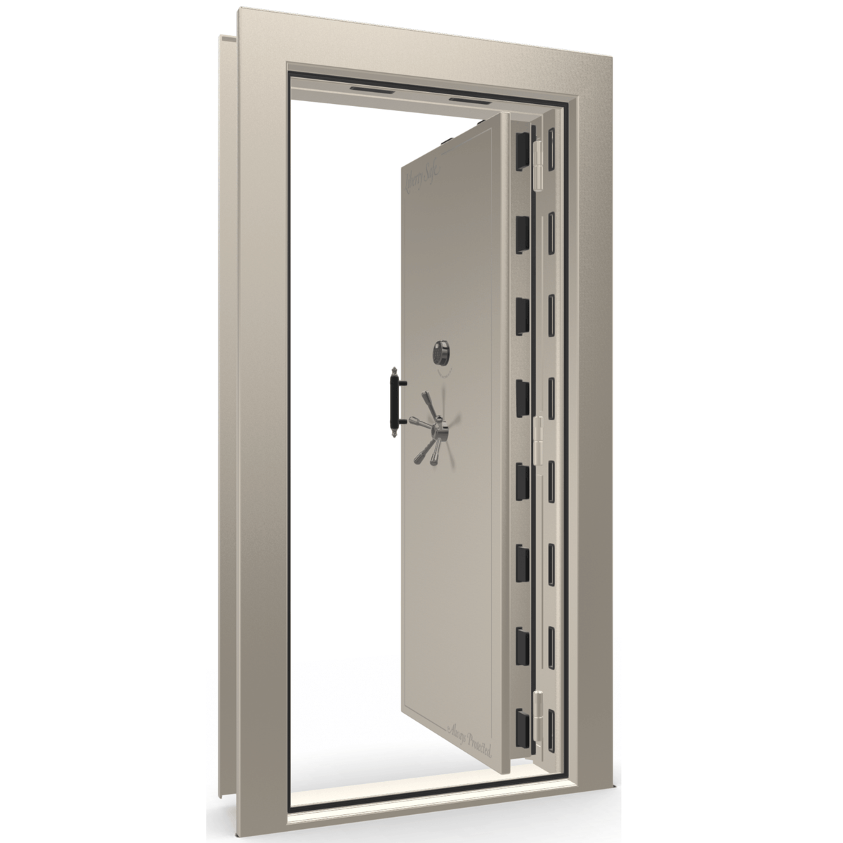 Vault Door Series | In-Swing | Left Hinge | Black Gloss | Mechanical