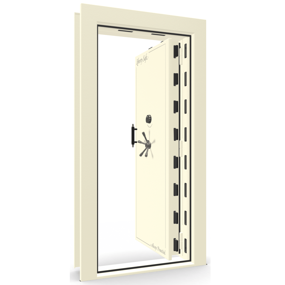 Vault Door Series | In-Swing | Left Hinge | Blue Gloss | Mechanical