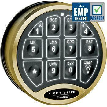Liberty Safe-accessory-electronic-lock-backlit-brass