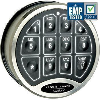 Liberty Safe-accessory-electronic-lock-backlit-chrome