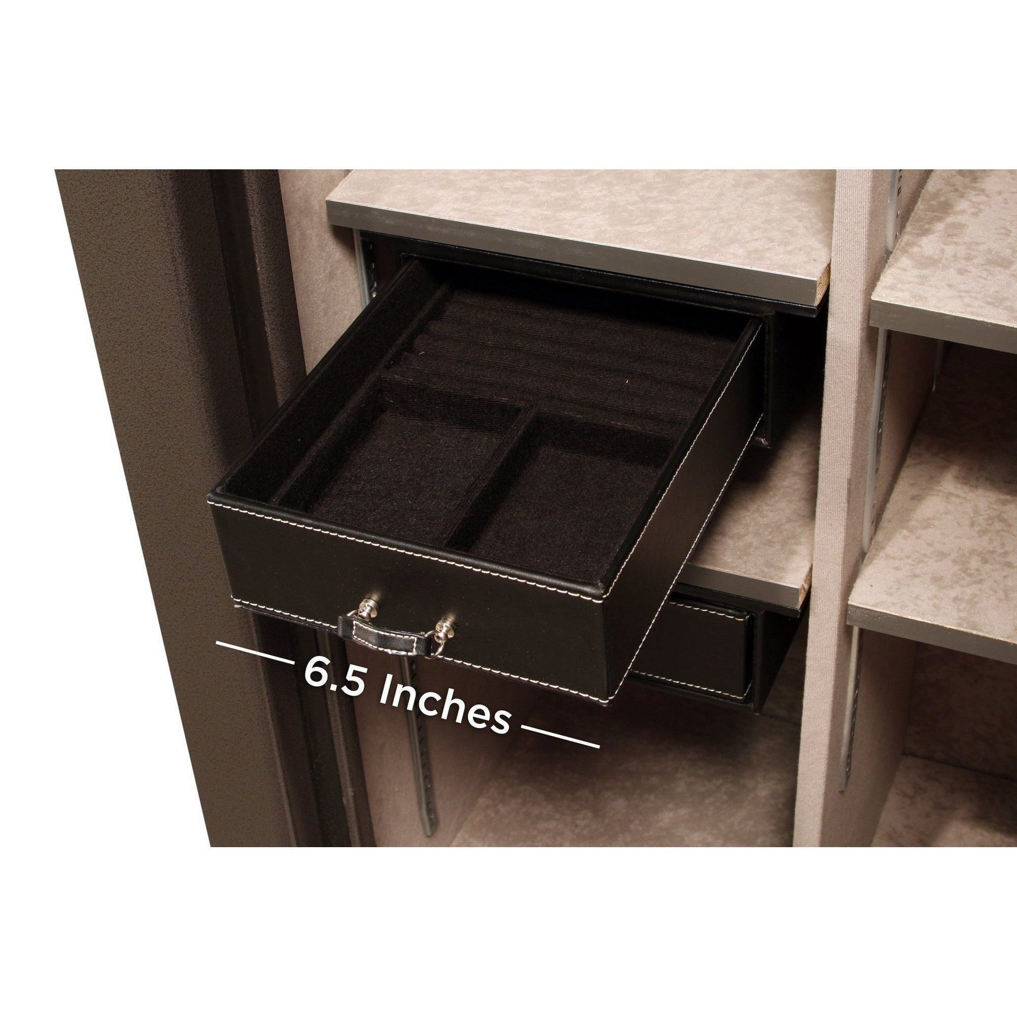 Liberty Safe-accessory-storage-jewelry-drawer-6-5-inch-under-shelf-mount-20-size-safes