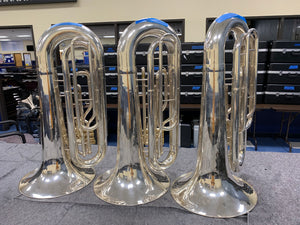 2019 System Blue Professional Series Over-Shoulder Tuba (SB50, Silver)