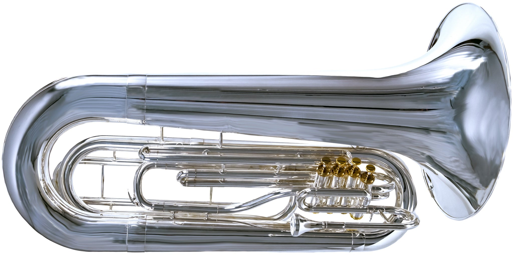 2019 System Blue Professional Marching Series Tuba (SB50, Silver)
