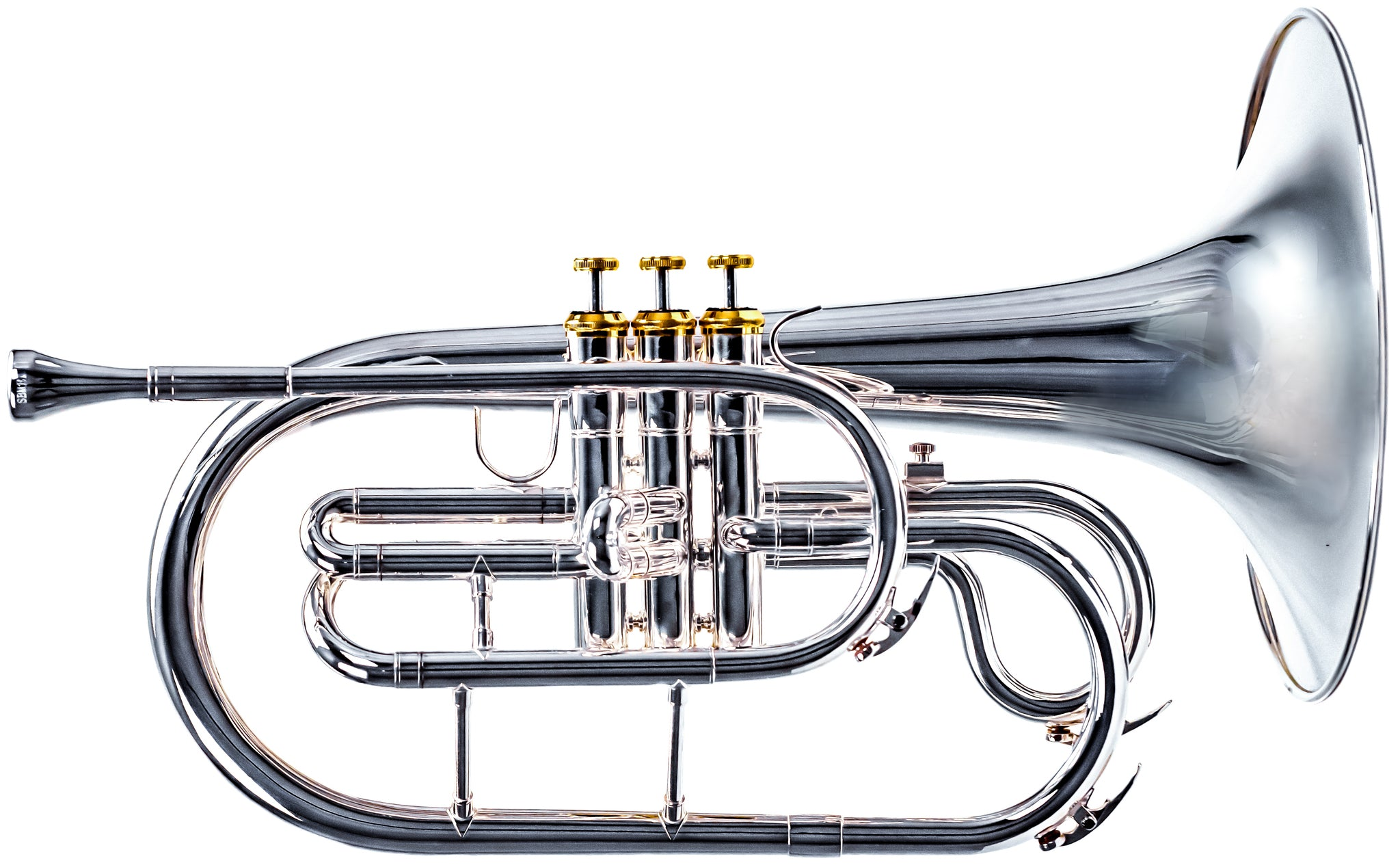 2018 System Blue Professional Marching Series Mellophone (SB20, Silver)