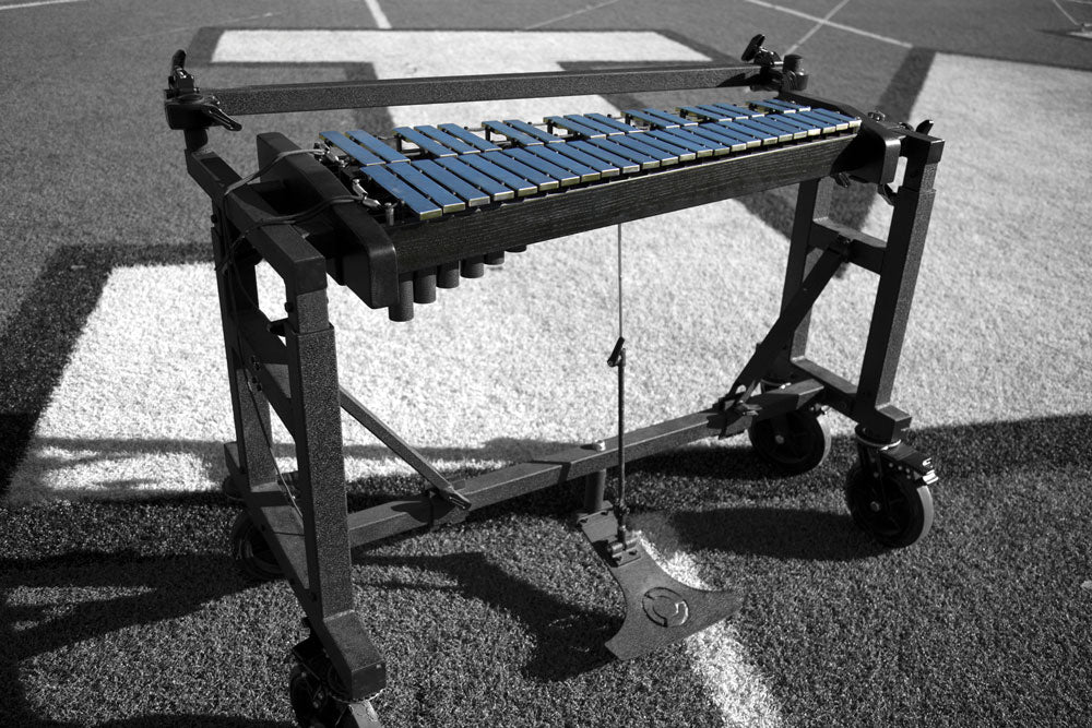2018 System Blue Pedal Glock with Field Frame (3.3 Octave, Steel Bars)