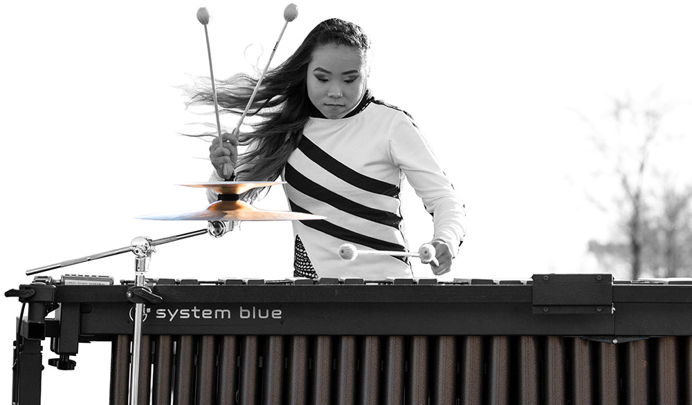 2018 System Blue Marimba with Field Frame (4.5 Octave, Synthetic Bars)