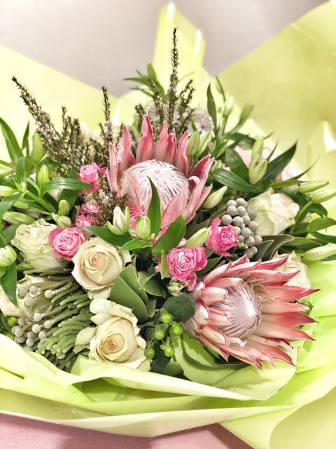 Rose and Protea Bouquet