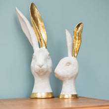 Load image into Gallery viewer, White and Gold Hares x2