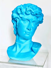 Load image into Gallery viewer, Large flock David bust Teal