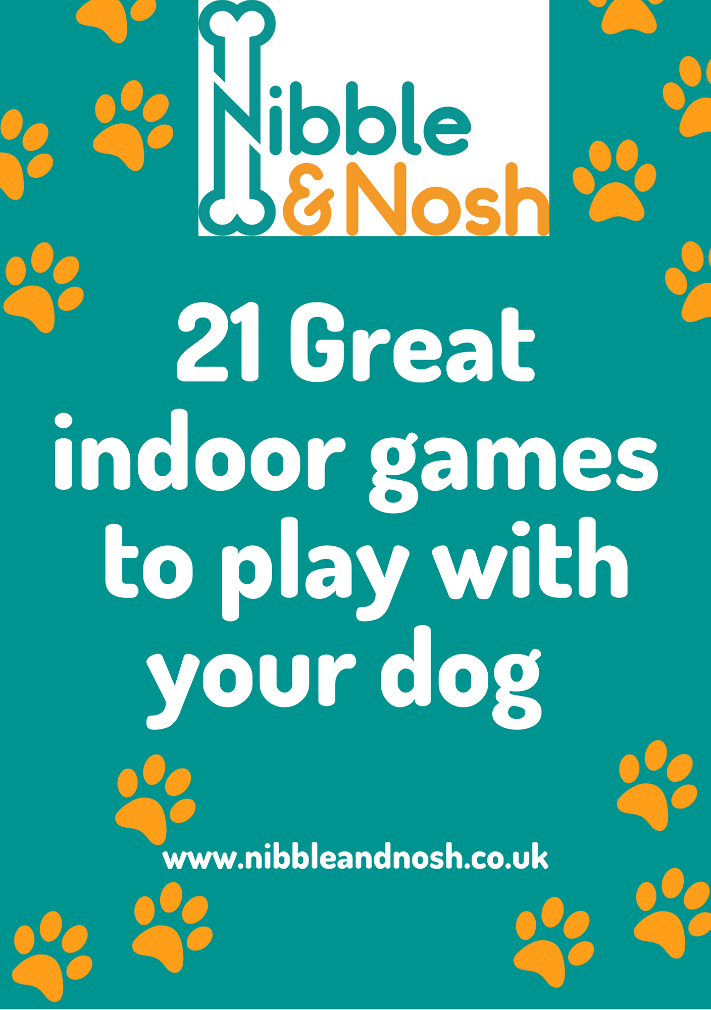 The Ebook Cover for '21 Great Indoor Games To Play With Your Dog.