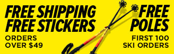 J skis black friday free poles and stickers and shipping